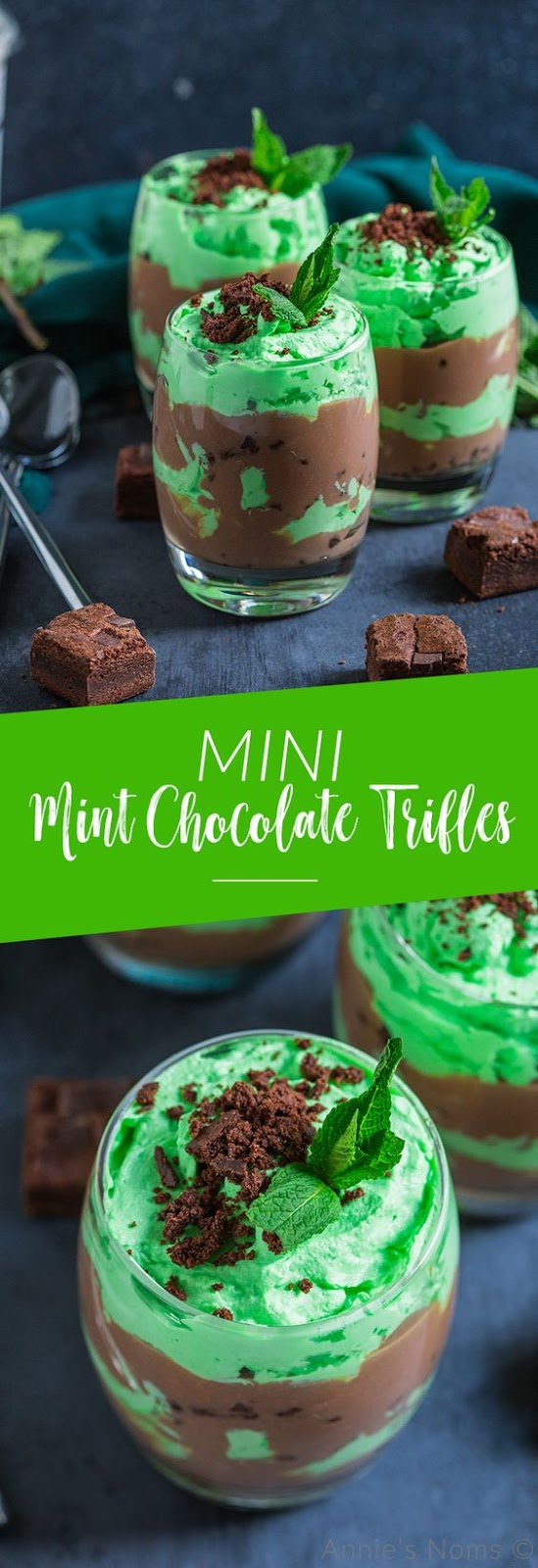 MINI MINT CHOCOLATE TRIFLES #minimint #chocolate #mint #trifles #cake #cakerecipes #dessert #dessertrecipes  #easydessertrecipes