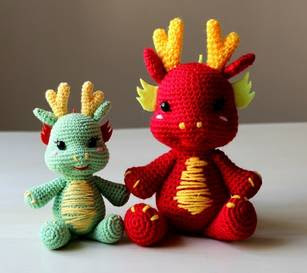PATRÒN DRAGON | Crochet dragon, Crochet dinosaur patterns, Crochet ... | 273x307