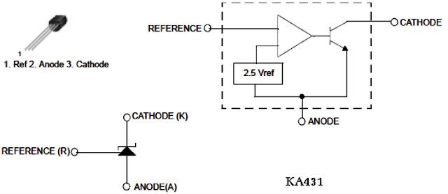 Hình 11 - IC khuếch đại vi sai - KA431
