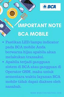 Important Note Saat Menggunakan BCA Mobile