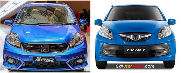 Perbandingan Wajah Honda Brio Facelift 2016 dan Brio Lama
