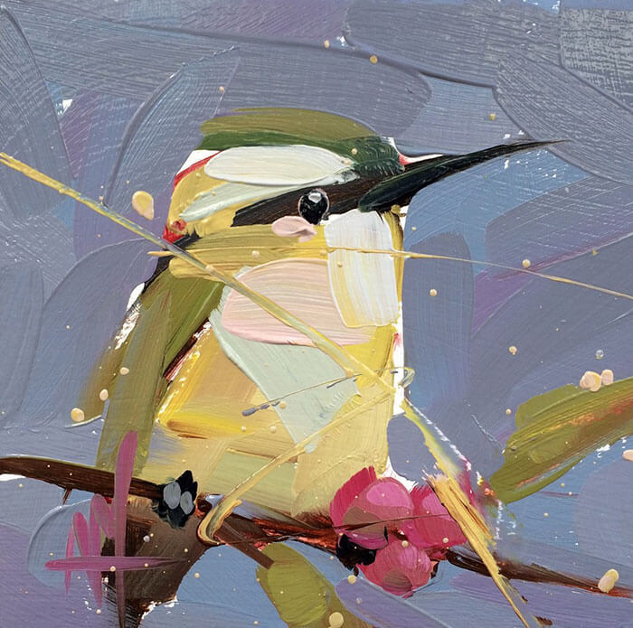 This Artist Creates Sophisticated Oil Paintings Of Birds By Using Thick Strokes
