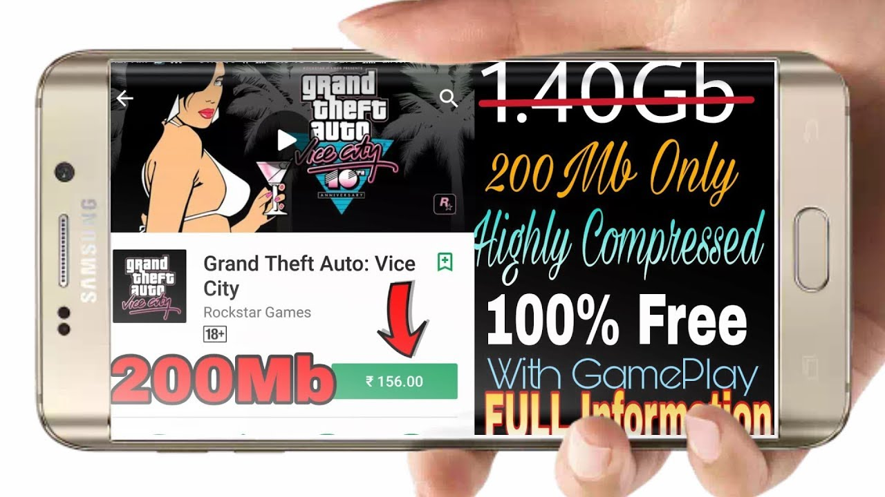 Try These Gta Vice City Lite Compressed Android Game
