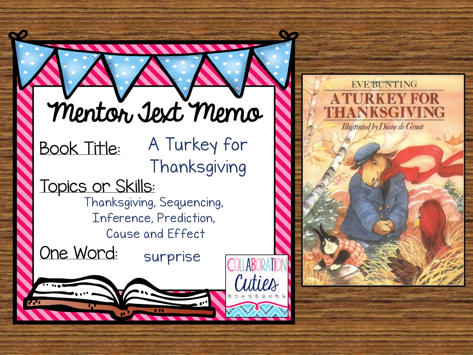 A Turkey For Thanksgiving Ready To Go Lesson Activities Must Read Mentor Text