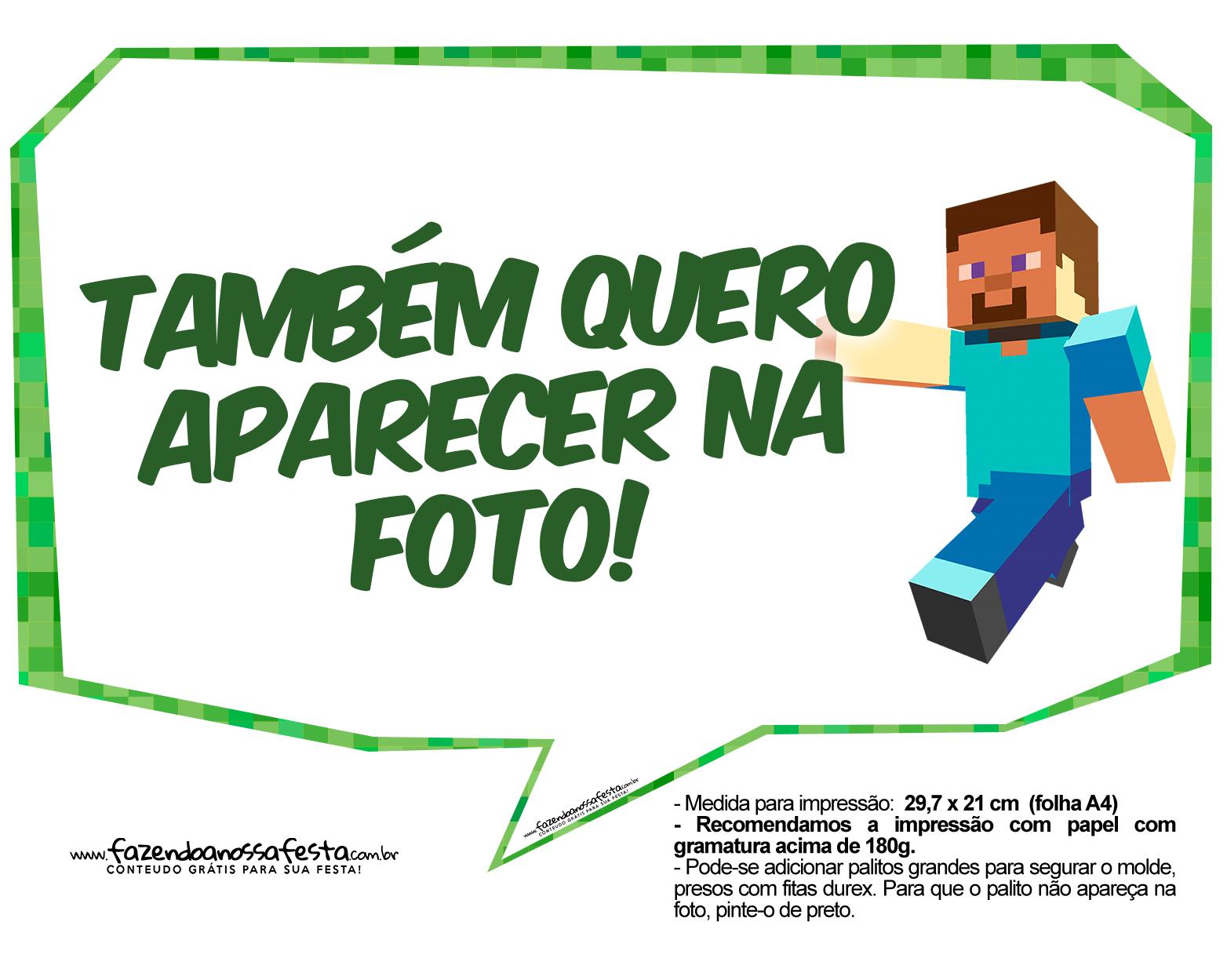 Tatu Bolinha Decoracao Kits Para Imprimir Minecraft