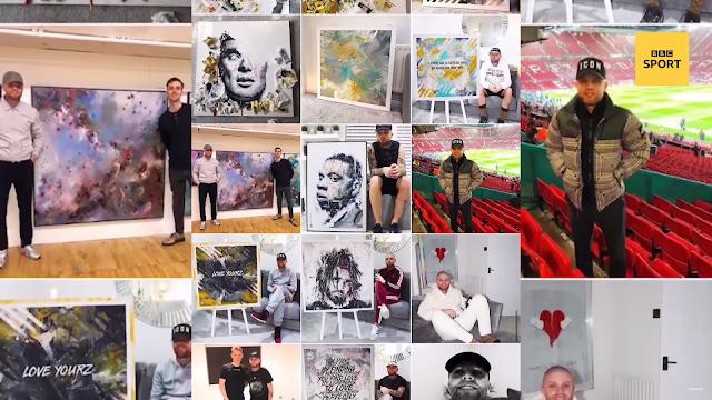 The artist that paints Paul Pogba, Raheem Sterling and Floyd Mayweather | BBC Sport | VIDEO SPORT NEWS | XIT4U SPORT TV