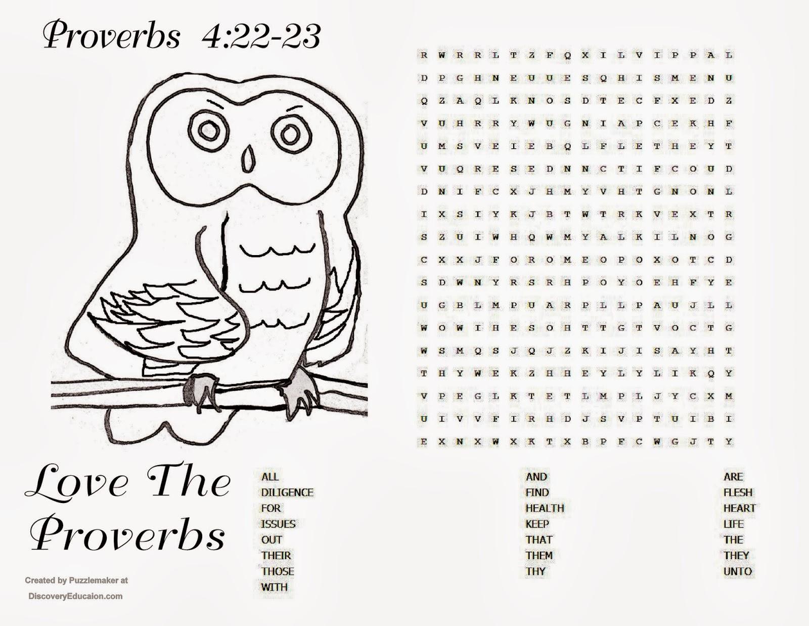 Children S Gems In My Treasure Box Proverbs 4 22 23