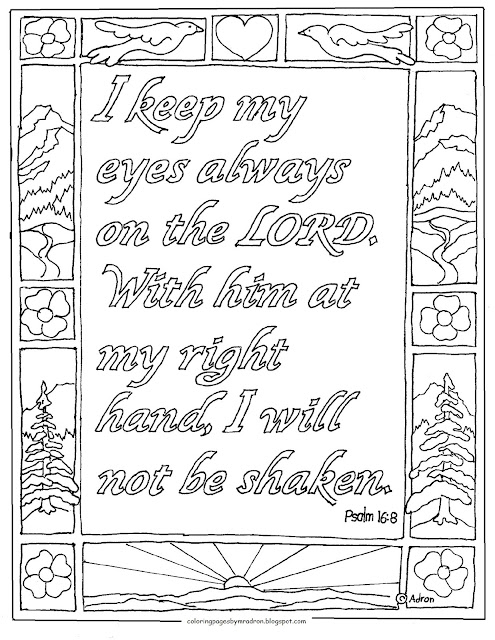 Coloring Pages For Kids By Mr Adron Psalm 168 Printable