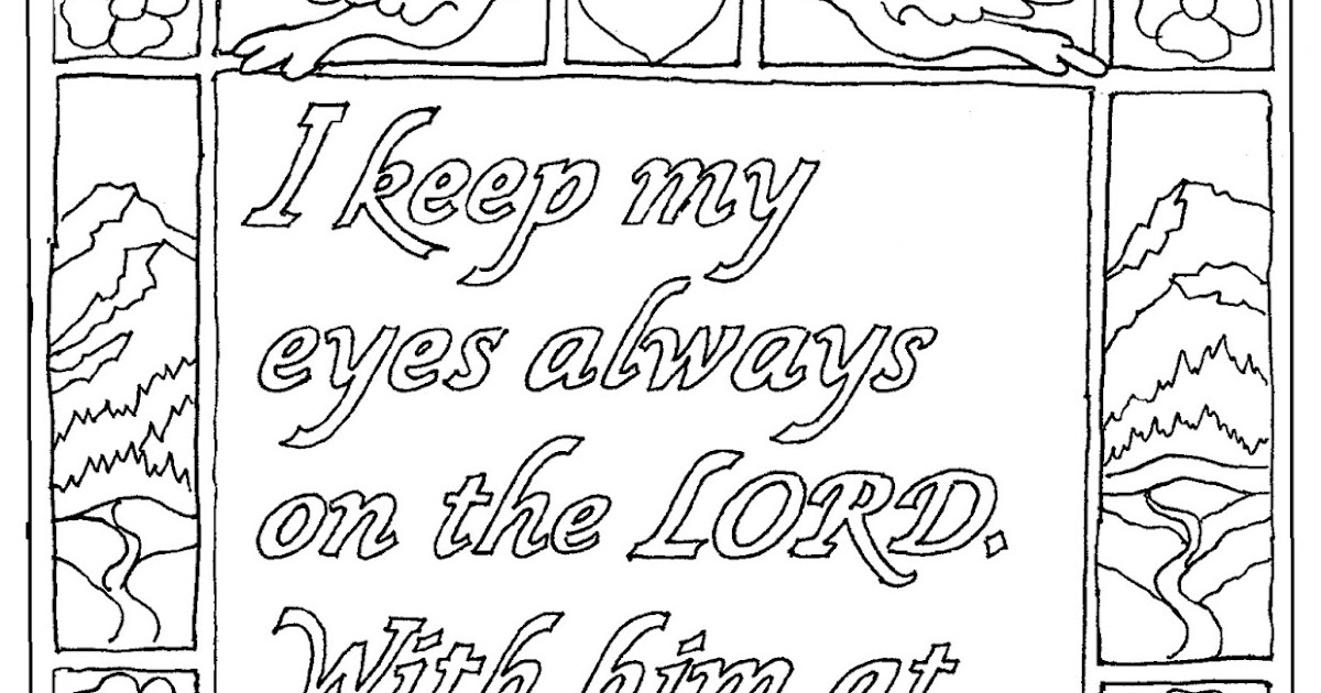coloring pages for kids by mr adron psalm 168 printable coloring page - Psalm 8 Coloring Page