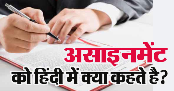 Assignment in Hindi