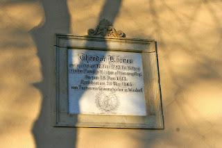 Gedenktafel an Theodor Körner am Haus
