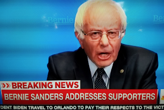 Bernie Sanders Doesn't Drop Out Of Presidential Race, But News Nets Drop Speech Mid-Way Through