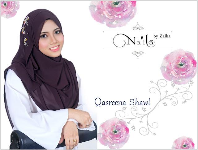 Na'ila Shawl By Zaika  Qasreena Shawl