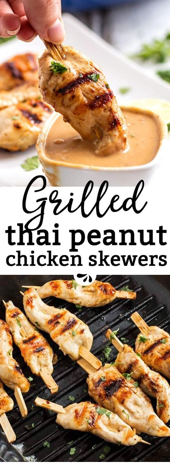 Chicken Skewers With Satay Style Peanut Sauce Recipe