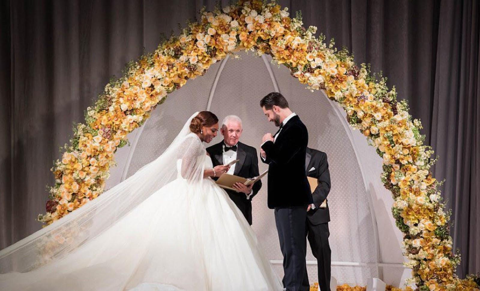 SERENA WILLIAMS, ALEXIS OHANIAN WEDDING 7