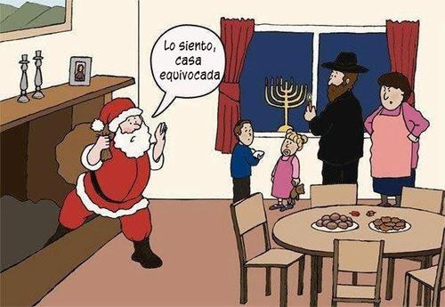 santa va a una casa judia