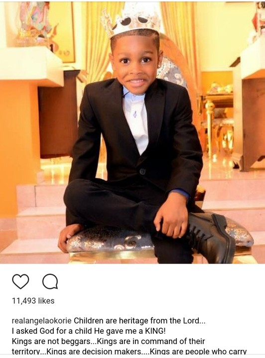 Actress Angela Okorie's Son Celebrates His 6th Birthday With Cute Photoshoot5