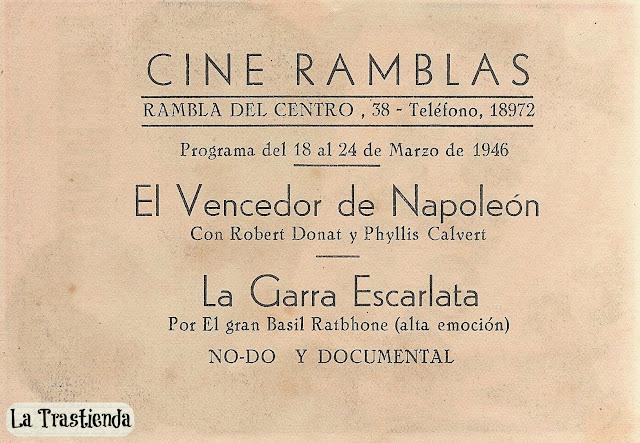 Programa de Cine - El Vencedor de Napoleón - Robert Donat - Robert Morley