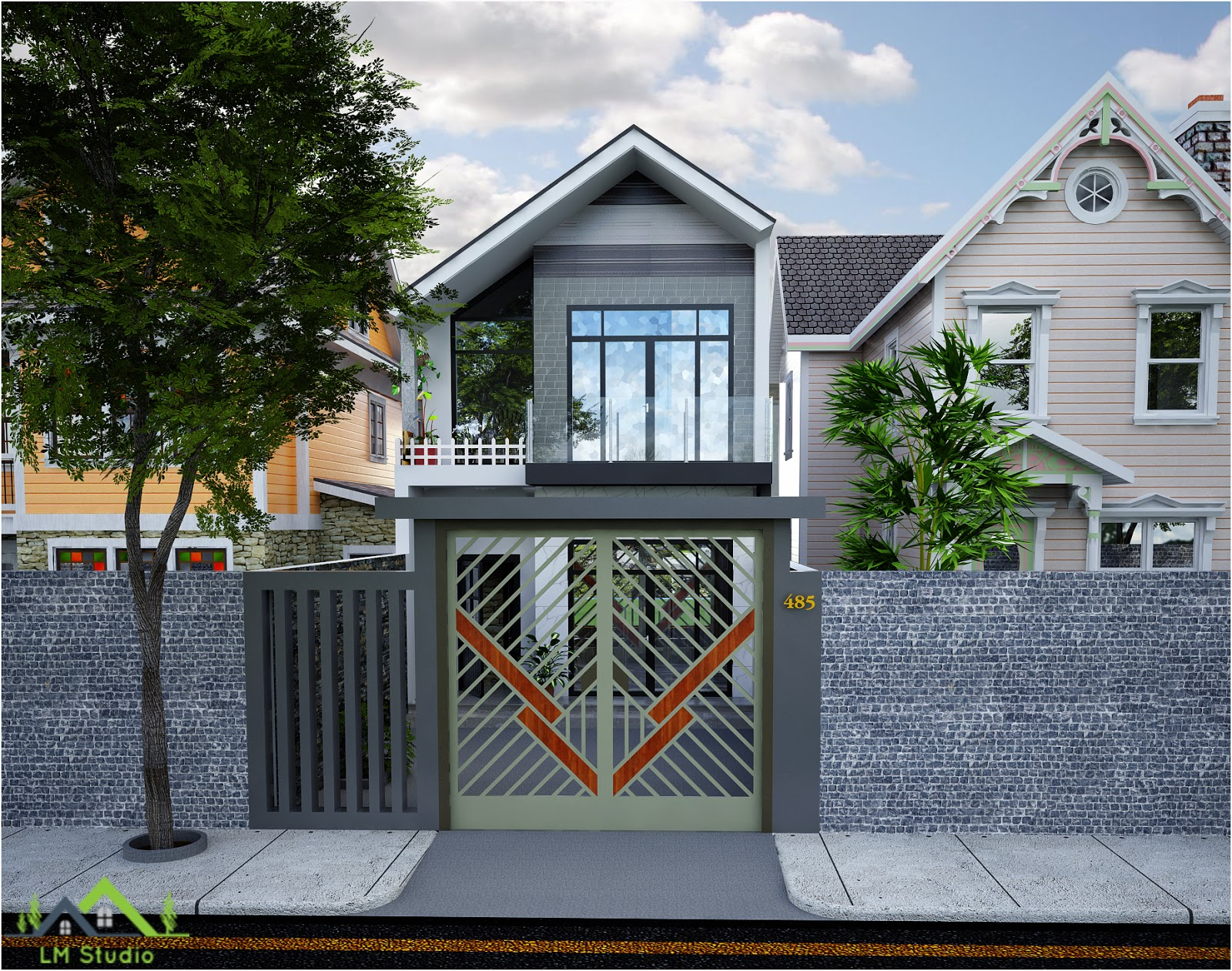 Free Exterior Sketchup Scene House Vray Sketchup Tut