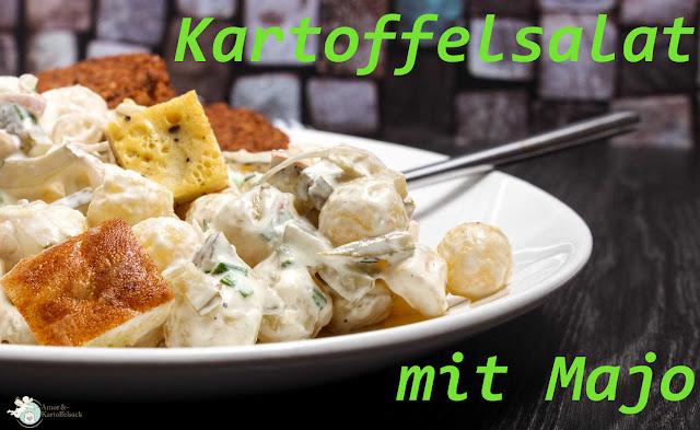 Einfacher Kartoffelsalat mit selbstgemachter Majo