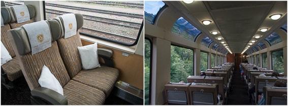 Vagon y asiento categoria Silverleaf del tren Rocky Mountaineer