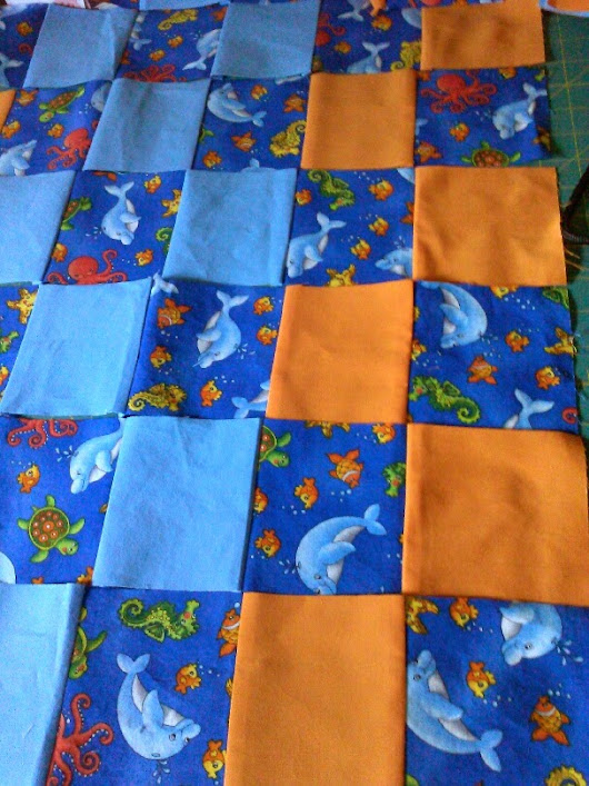 Baby quilt tutorial--not perfect by an means but so cute!