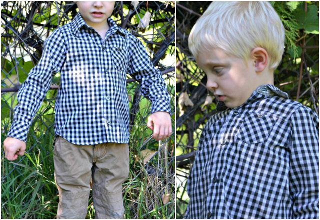 Sewing for the Boy: Back to School Shirts