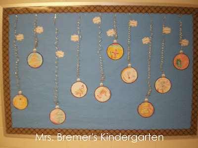 Christmas bulletin board idea for Kindergarten
