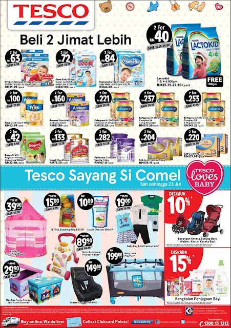 AEON BiG, Tesco & Giant Weekend Discount Catalogue Offer Until 23 July 2017