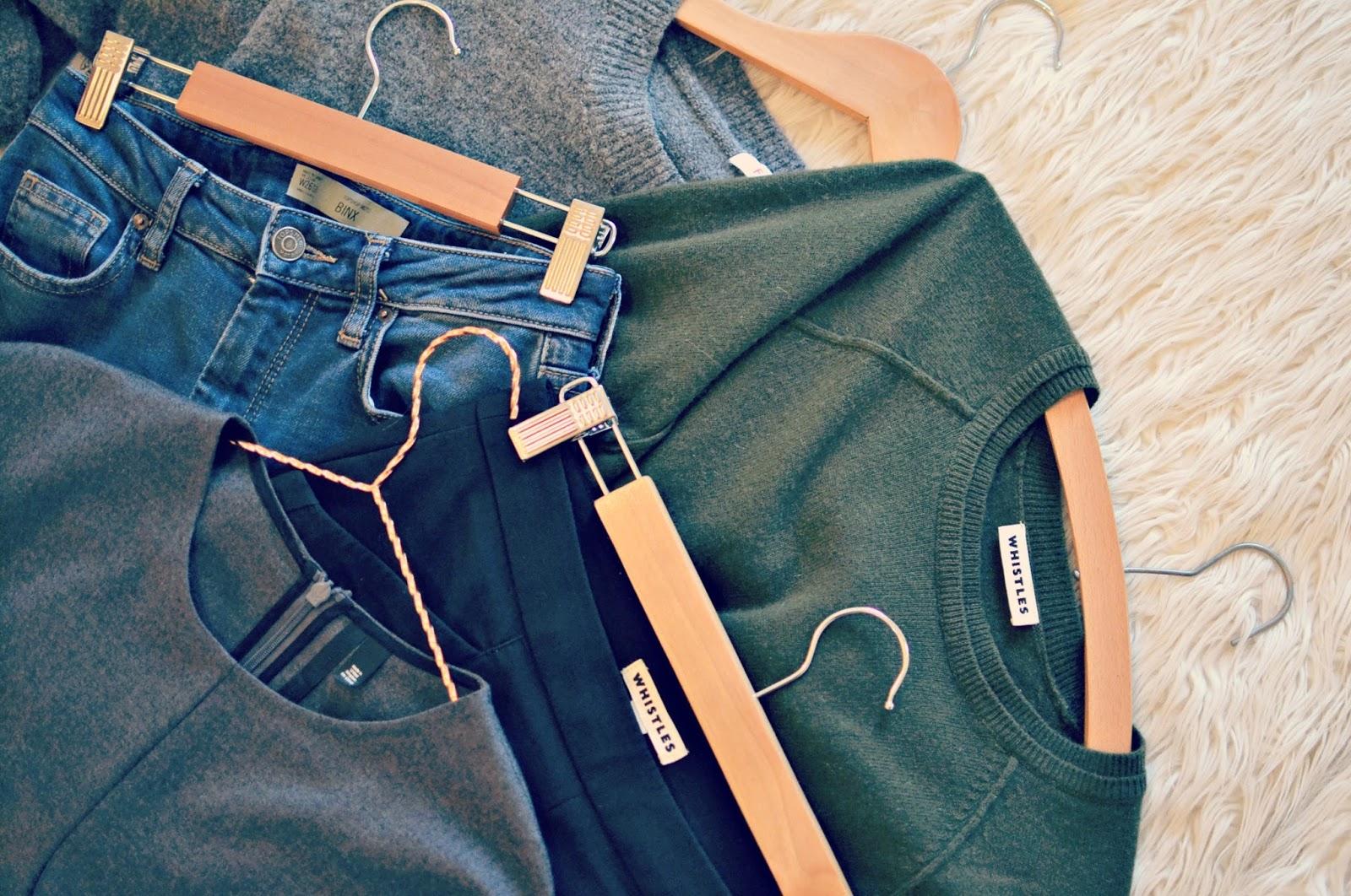 Capsule wardrobe, Topshop Boutique judo jumpsuit, Topshop Binx jeans, Whistles cashmere jumper