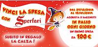 Logo Sperlari ti regala la Calza della Befana e ti fa vincere 20 buoni spesa da 100€