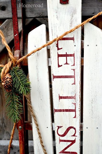 vintage sled www.homeroad.net