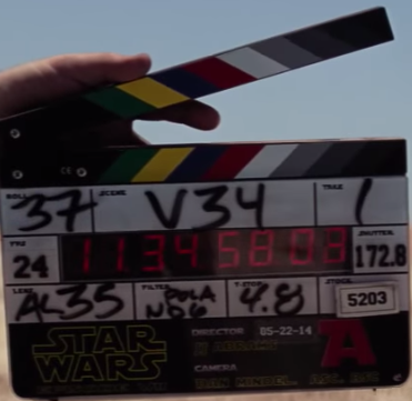 force awakens clapper board