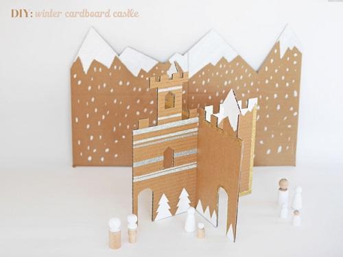 Costruire un castello per i bambini con le scatole di cartone: 8 ...
