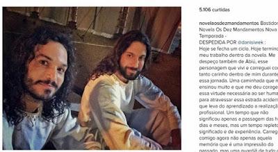 Daniel Siwek e Marco Antonio Gimenez fizeram Abiú e Nadabe na novela Os Dez Madamentos
