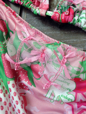 Print Strawberry Kids Swimwear