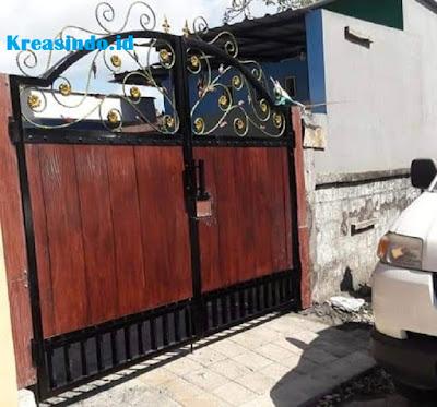 Jasa Pintu Pagar Besi Kombinasi GRC di Jakarta dan sekitarnya