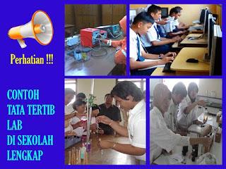 Tata Tertib Laboratorium (Komputer,Kimia,Fisika,Biologi) Sekolah (SMK,SMA,SMP) Terlengkap