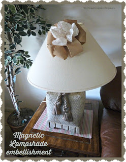 Magnetic lampshade embellishment