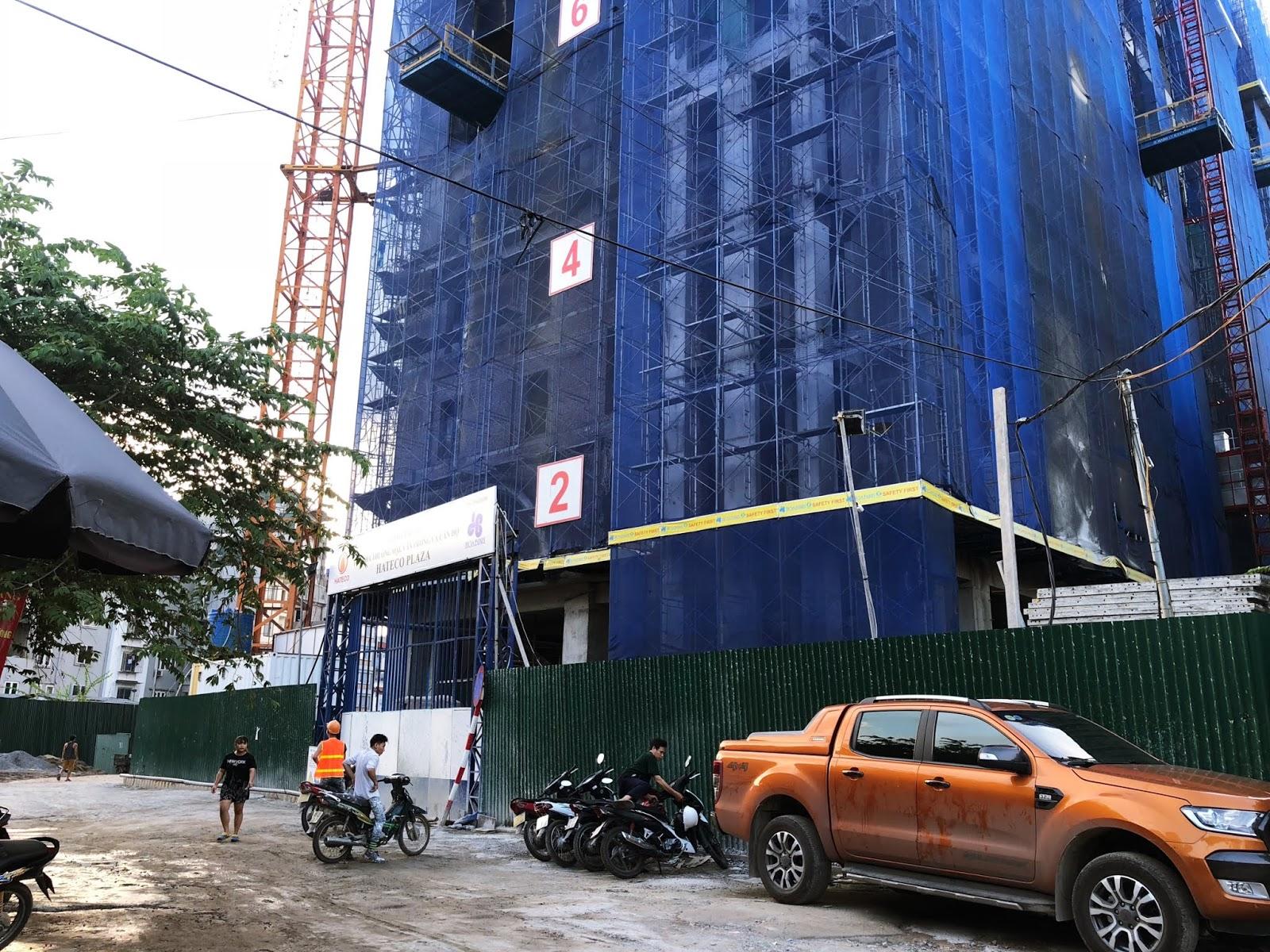 Hình ảnh công trường của Hateco Plaza Huỳnh Thúc Kháng