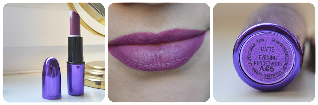 Swatch Maccosmetics Mac Cosmetics, Lipstick, Lippenstift, Lippie, Evening Rendezvous, LE, Enchanted Eve, Swatches, Lipswatch, Matte, Violet