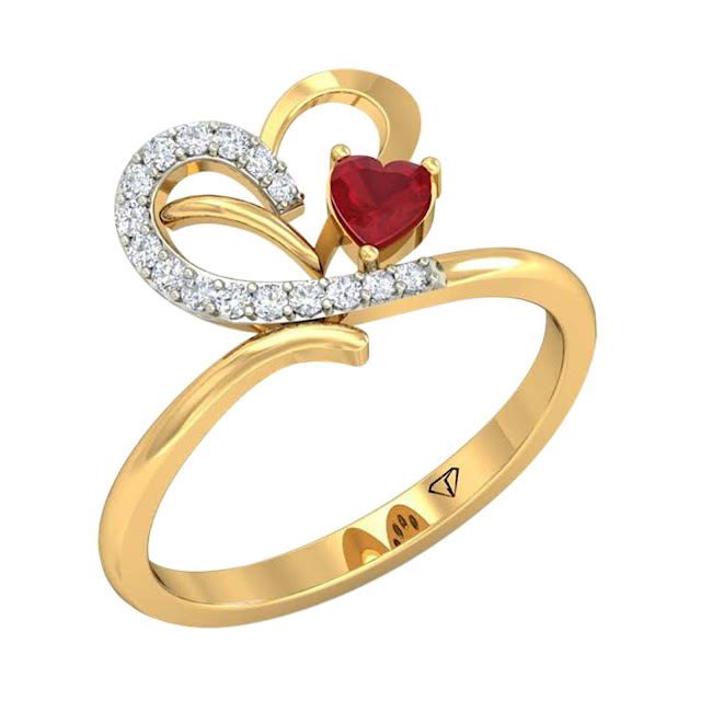 Velvetcase.com- Diamond Heart and Love Ring