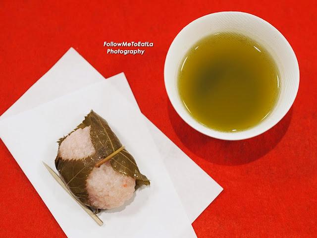 Sakuramochi & Green Tea