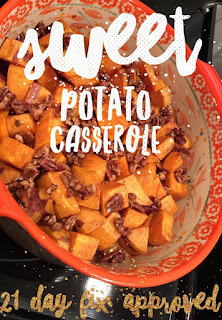 21 day fix approved sweet potato casserole, sweet potatoes, 21 day fix, thanksgiving