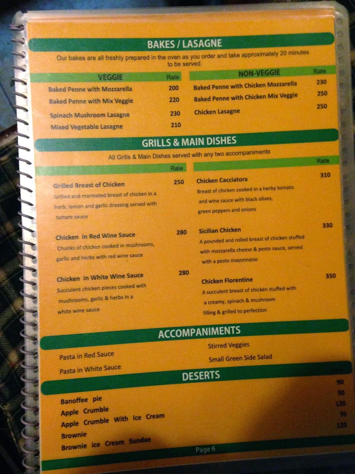 Tibet Kitchen Mcleodganj Menu