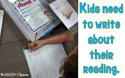 Reading and writing should go hand-in-hand.   That connection improves both reading and writing skills.