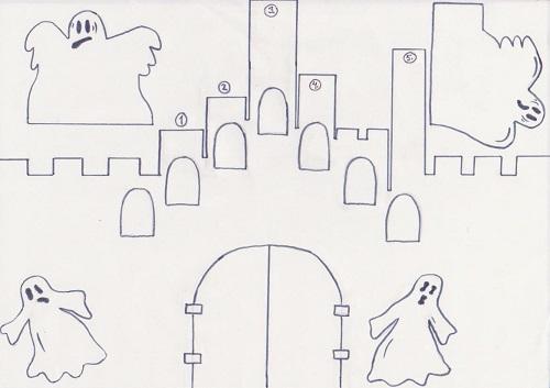halloween kaava kummitukset linna