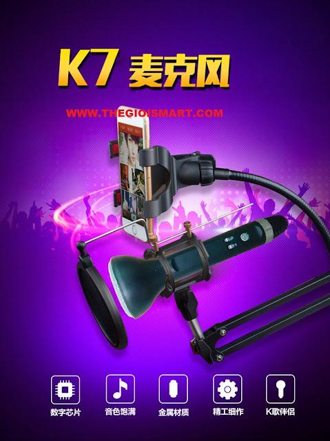 Micro Karaoke Bluetooth K7 cực hay