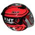 KYT DJ Maru #11 Red Fluo Gunmetal - RP 300,000