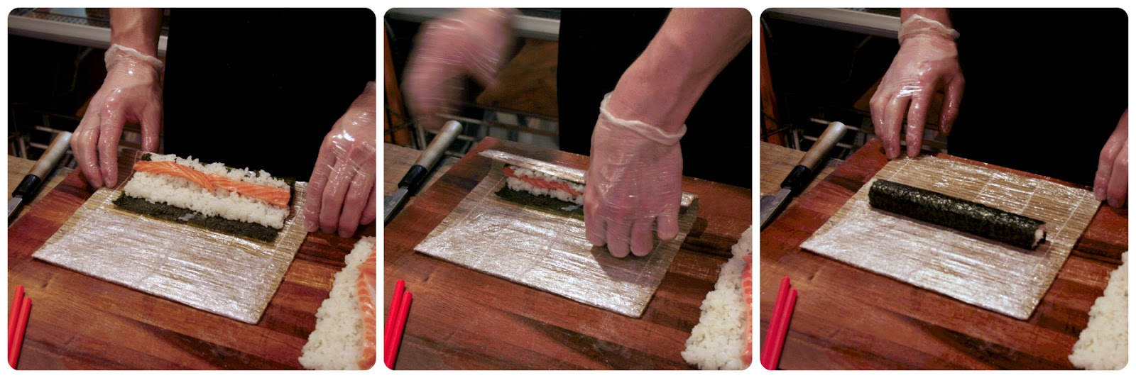 Jack, owner of Zero juice and sushi in Berkhamsted, taught us how to roll different types of sushi